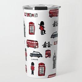 London icons illustration Travel Mug