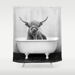 Highland Cow Bathtub Shower Curtain