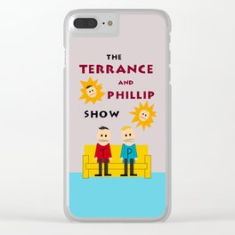 The Terrance and Phillip Show Poster Clear iPhone Case