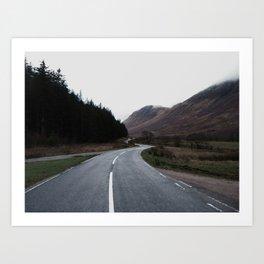 Road through the Glen Art Print