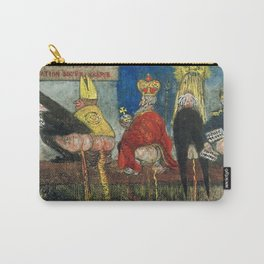 Doctrinal Nourishment (World Powers, Religion, Big Business) portrait painting by James Ensor Carry-All Pouch