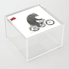 Motorcycle Bear Acrylic Box