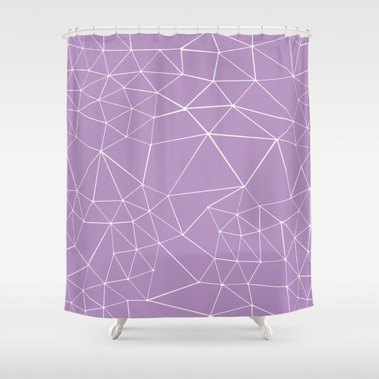 Segment Zoom Orchid Shower Curtain