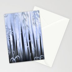 Blue Forest Abstract Stationery Cards