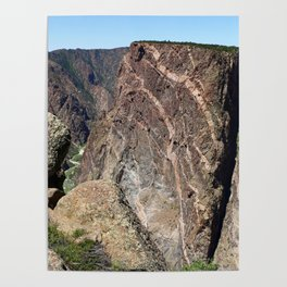 Painted Black Canyon of the Gunnison Walls Poster