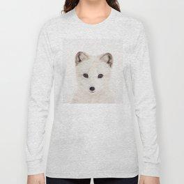 Baby Fox, Baby Animals Art Print By Synplus Long Sleeve T-shirt