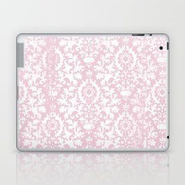 Vintage blush pink white grunge floral damask Laptop & iPad Skin