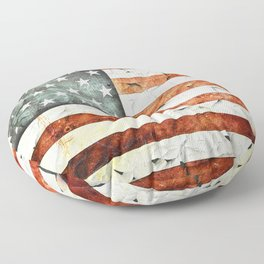 Painted Stars And Stripes Floor Pillow