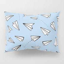 Paper Planes on Blue Pillow Sham