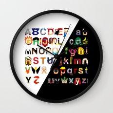 Marvelphabet Wall Clock
