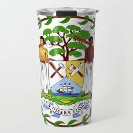 Belize flag emblem Travel Mug