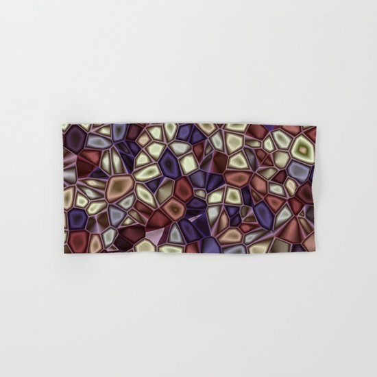 Fractal Gems 01 - Fall Vibrant Hand & Bath Towel