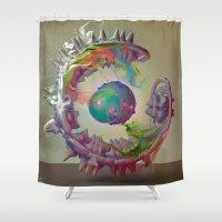 archan nair Shower Curtains featuring Korah by Archan Nair