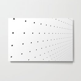 Black and White Minimal Pixels IV Metal Print