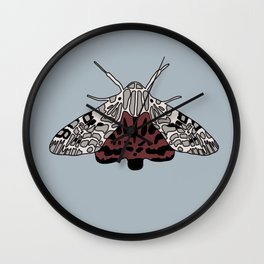 Arachnis Aulea Moth Wall Clock