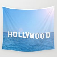 hollywood Wall Tapestries featuring Sea Hollywood by Lord Solomon's Gallery
