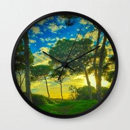 Rota Spain trees Wall Clock