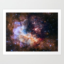 Cluster Westerlund II Art Print