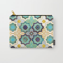Marrakesh gold and blue geometry inspiration Carry-All Pouch