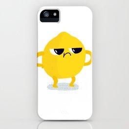 Grumpy Sour Lemon iPhone Case