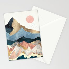 Golden Peaks Stationery Cards