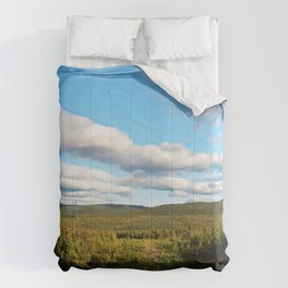 Big Skies over Mountain Trail Comforters