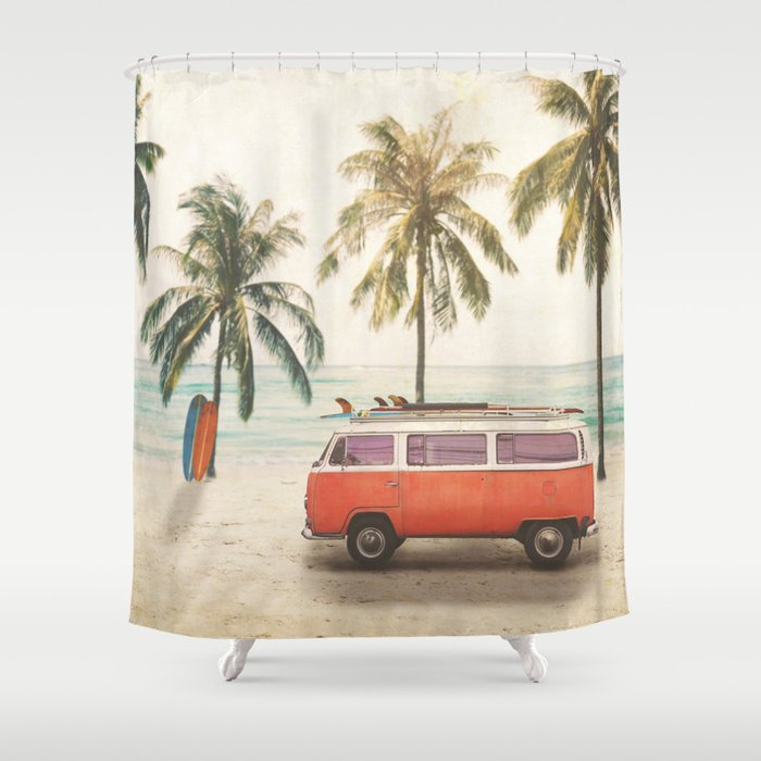 Traveling Time Shower Curtain