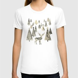 Winter Woods, collage T-shirt