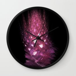 Pink flame Wall Clock
