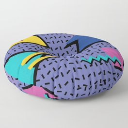 Memphis Pattern 9 - 90s - Retro Floor Pillow