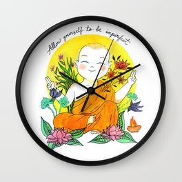 The Buddhist Monk Wall Clock
