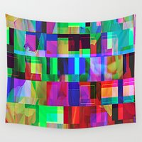 glitch Wall Tapestries featuring GLITCH by C O R N E L L