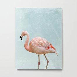 Flamingo Summer Vibes Metal Print