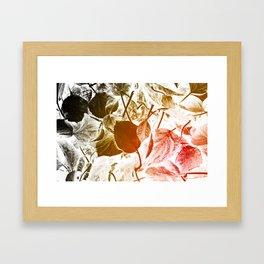 Abstract autumn leaves. Framed Art Print