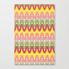 Summer Pattern 8 (Hot Dog) Canvas Print