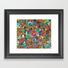 Mosaic Gems   Framed Art Print