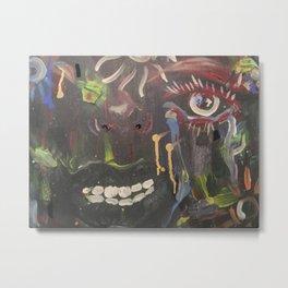 Crazy Mouth Metal Print