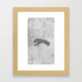 Wolf Banner Framed Art Print