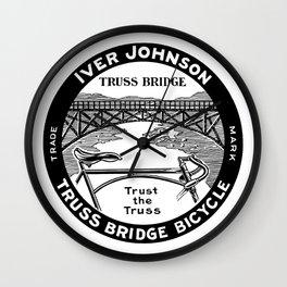 Vintage retro Iver Johnson Truss Bridge bicycle ad Wall Clock