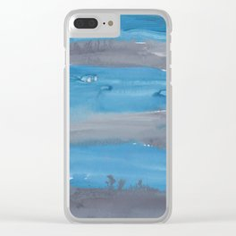 20  | 1903011 Watercolour Abstract Painting | Muted Colours Clear iPhone Case