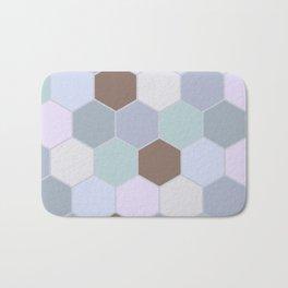 Violet pastel shades hive Bath Mat