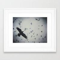 dramatical murder Framed Art Prints featuring Murder by John Rowe