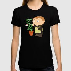 Gregor Mendel SMALL Black Womens Fitted Tee