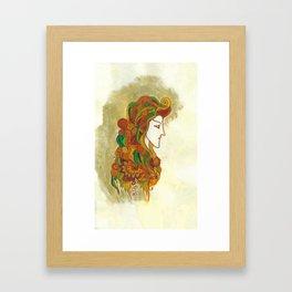 Golden Portrait Framed Art Print