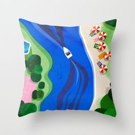 Cruising on a summer day Throw Pillow