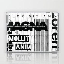 Lorem Ipsum Inverted Laptop & iPad Skin