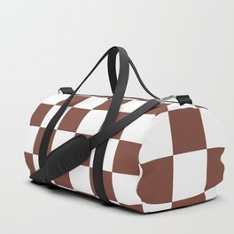 Checkered (Brown & White Pattern) Duffle Bag