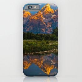 Grand Tetons Lake Reflections - Wyoming iPhone Case