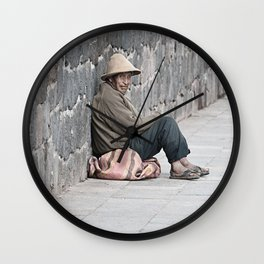 By the streets of Cusco Wall Clock