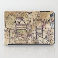 hogwarts iPad Cases featuring Hogwarts Map by Sarah Ridings